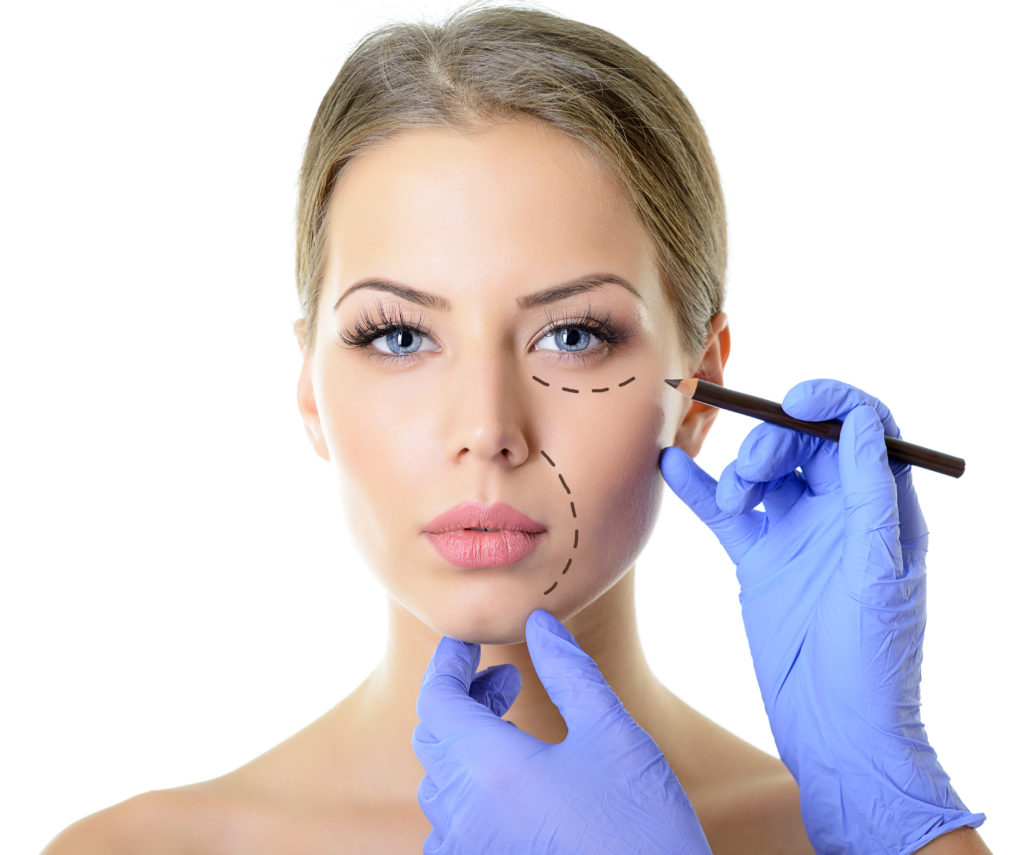 Before any facial aesthetics treatment sites are drawn onto the face in preparation
